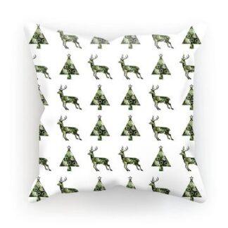 Viser Jul pyntepute i hvitt og grønt